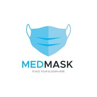 Conceito de logotipo de máscara facial Vetor Premium