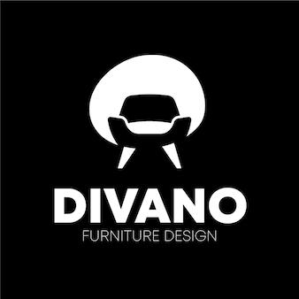 Conceito de logotipo de mobiliário minimalista