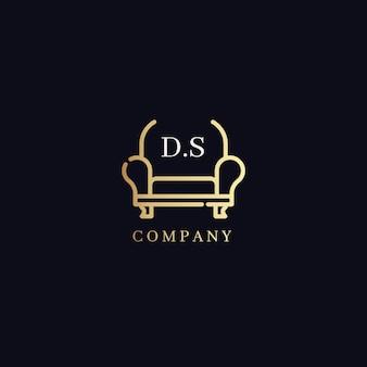Conceito de logotipo de móveis elegantes