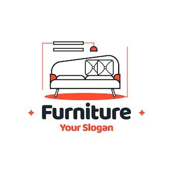 Conceito de logotipo de móveis