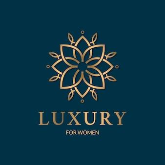 Conceito de logotipo de perfume de luxo