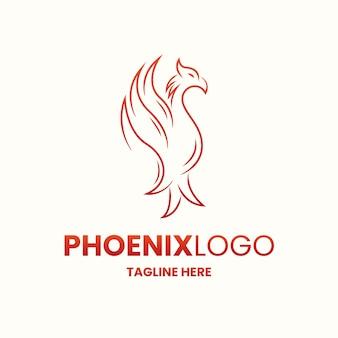 Conceito de logotipo de phoenix