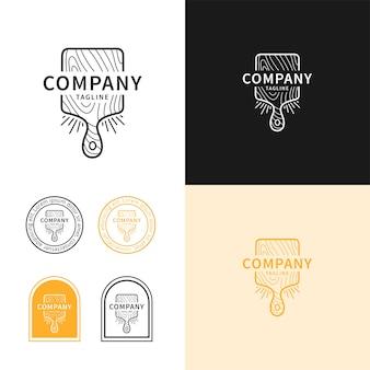 Conceito de logotipo de restaurante, conceito de logotipo moderno de tábua