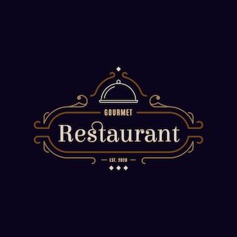 Conceito de logotipo de restaurante retrô