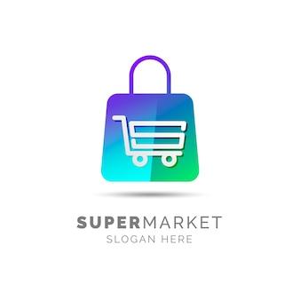 Conceito de logotipo de supermercado