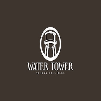 Conceito de logotipo de torre de água