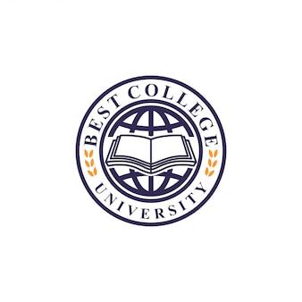 Conceito de logotipo de universidade. modelo de logotipo de universidade
