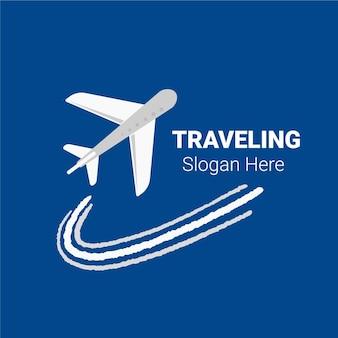 Conceito de logotipo de viagens detalhadas