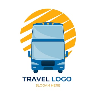 Conceito de logotipo de viagens