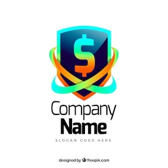 Conceito de logotipo dinheiro criativo