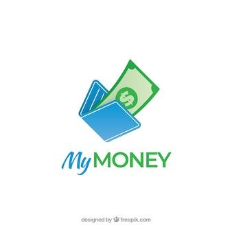 Conceito de logotipo dinheiro moderno