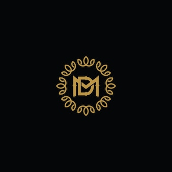 Conceito de logotipo dm