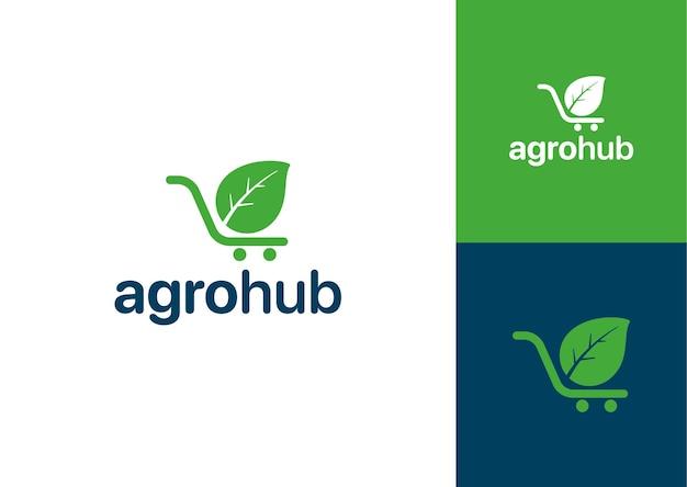 Conceito de logotipo para produtos orgânicos direto da fazenda