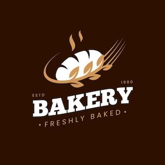 Conceito de logotipo retrô padaria