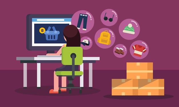 Conceito de loja de compras on-line