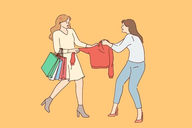 Conceito de luta contra competição de compras
