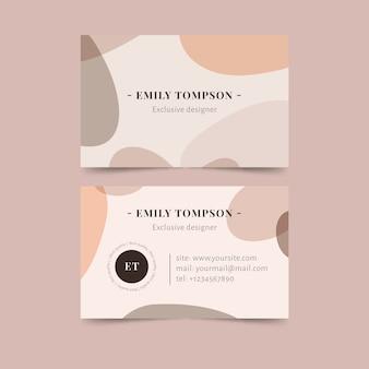 Conceito de manchas de cor pastel para cartão de visita