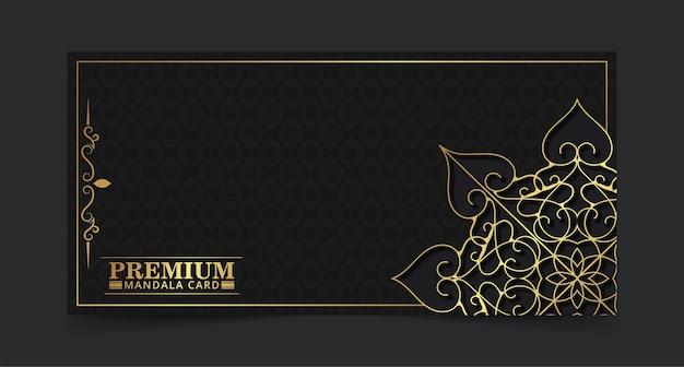 Conceito de mandala de cor ouro escuro
