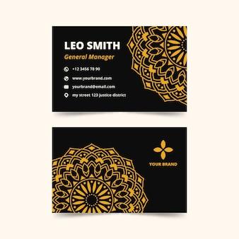 Conceito de mandala para cartão de visita