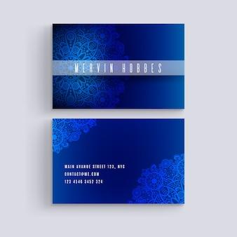 Conceito de mandala para modelo de cartão de negócios