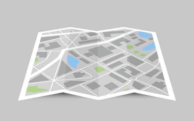 Conceito de mapa de cidade em perspectiva