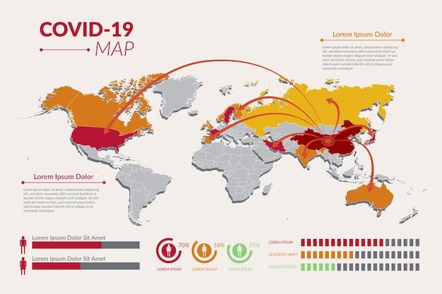 Conceito de mapa de coronavírus