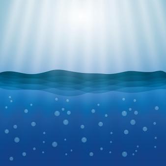 Conceito de mar com design de ícone