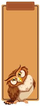Conceito de marca de livro de coruja