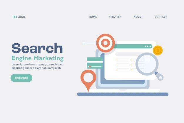 Conceito de marketing de busca