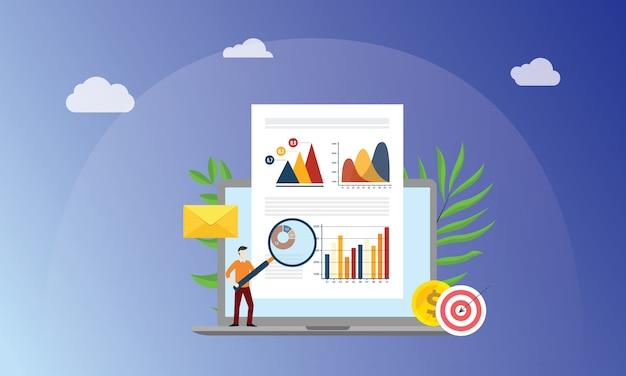 Conceito de marketing de dados visuais