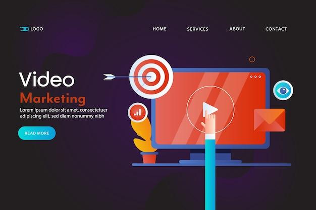 Conceito de marketing de vídeo