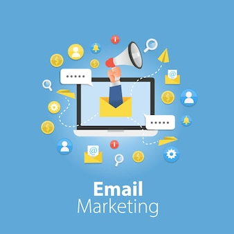 Conceito de marketing por e-mail