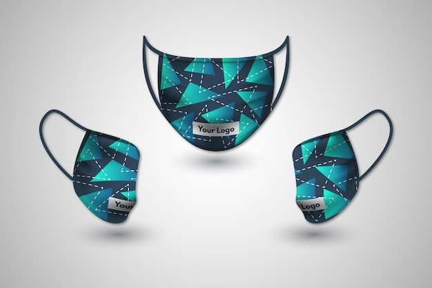 Conceito de máscara facial de tecido realista