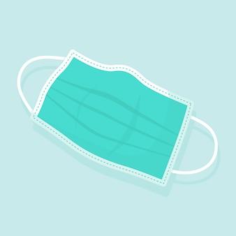 Conceito de máscara médica de design plano