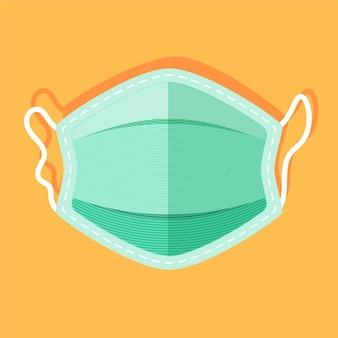 Conceito de máscara médica plana