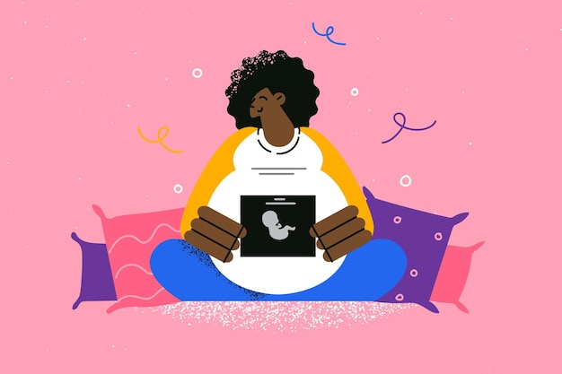 Conceito de maternidade e maternidade feliz