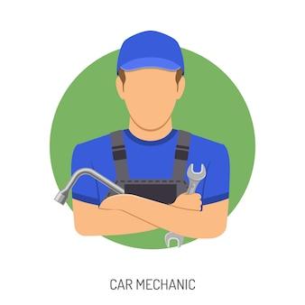 Conceito de mecânico de carro