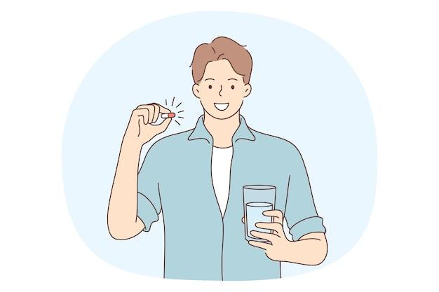 Conceito de medicamentos e vitaminas