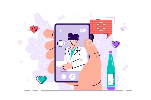 Conceito de medicina on-line