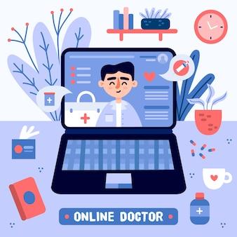 Conceito de médico on-line