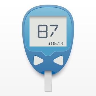 Conceito de medidor de glicose no sangue
