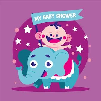 Conceito de menino de chuveiro de bebê