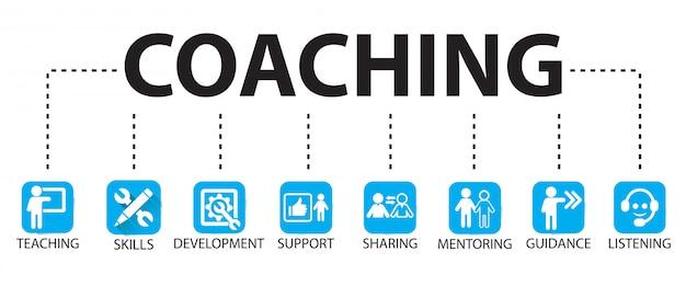 Conceito de mentoring de liderança de negócios coaching