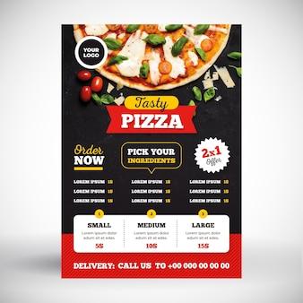 Conceito de menu de pizza