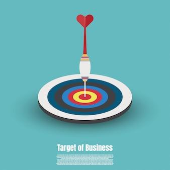 Conceito de mercado alvo de negócios