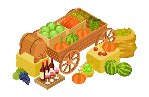 Conceito de mercado de colheita