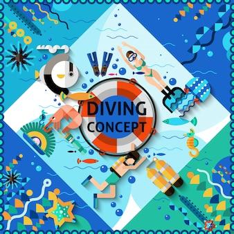 Conceito de mergulho autônomo