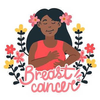 Conceito de mês de conscientização do câncer de mama