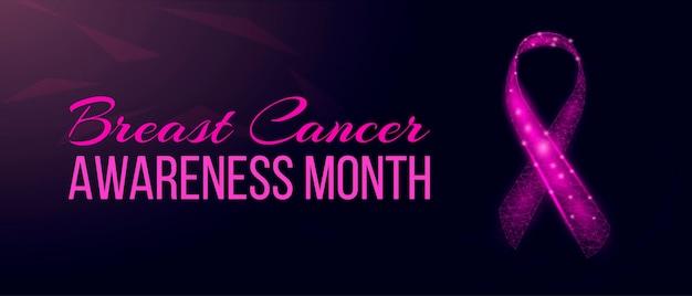 Conceito de mês de conscientização do câncer de mama.