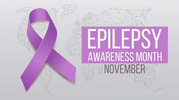 Conceito de mês de conscientização sobre epilepsia.